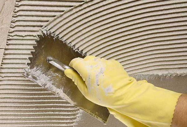 Цементный серый клей