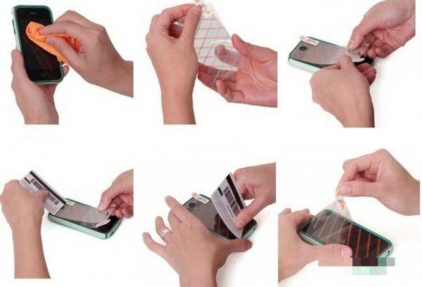 Наклеивание пленки на мобильный пошаговое фото