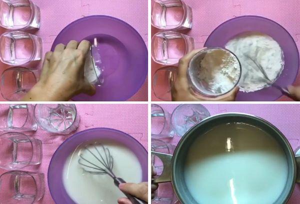 Приготовление клея из муки
