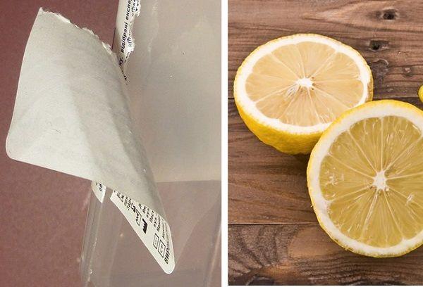 Лимон для удаления клея