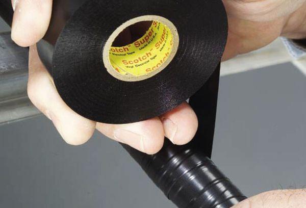 Черный силиконовый скотч