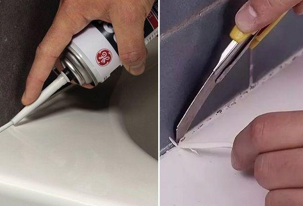 нанесение и удаление силиконового герметика