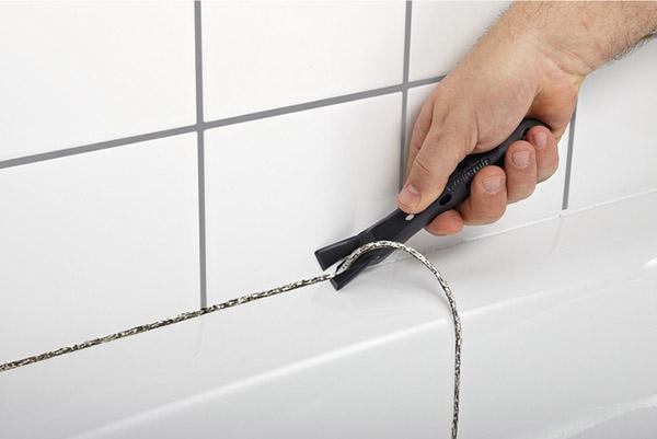 Корректировка шва после высыхания герметика