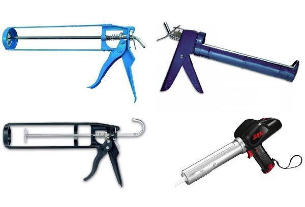Разные модели пистолетов