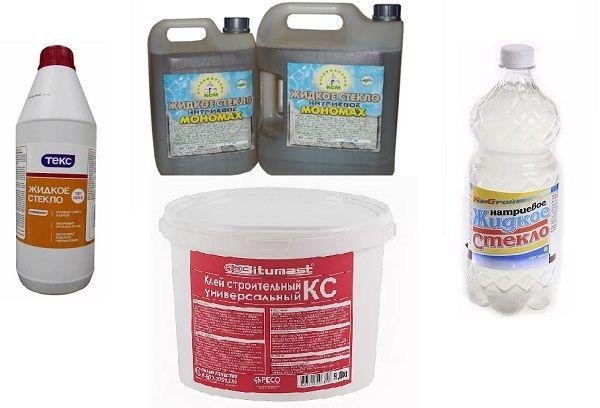 Жидкое стекло разных производителей
