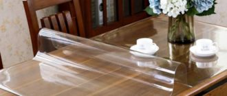 Прозрачная скатерть из ПВХ