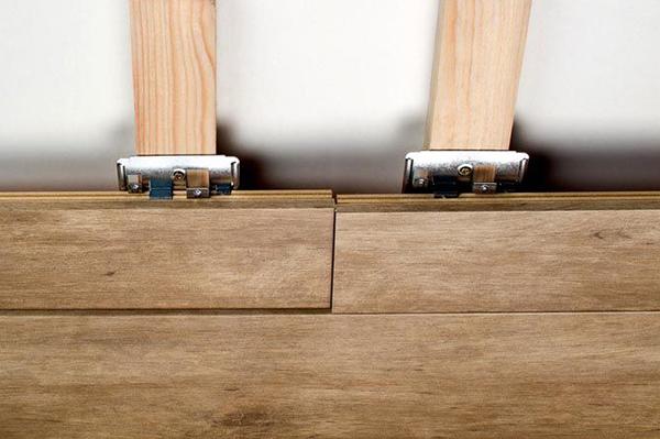 Крепление ламината на кляймеры и деревянную обрешетку
