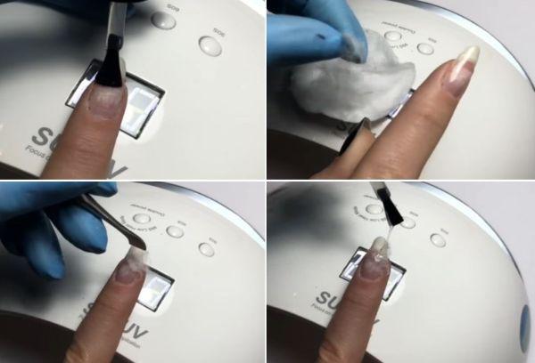 Реставрация сломанного ногтя