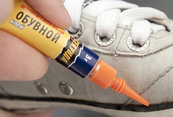 Использование обувного клея