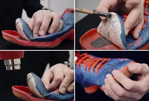 Горячий метод приклеивания подошвы обуви