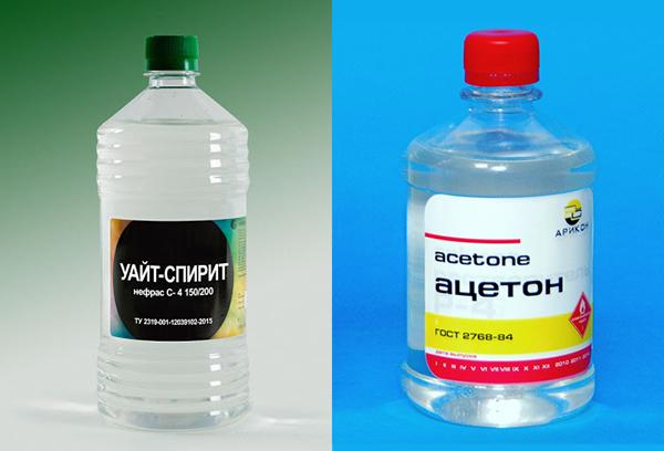 Уайт-спирит и ацетон
