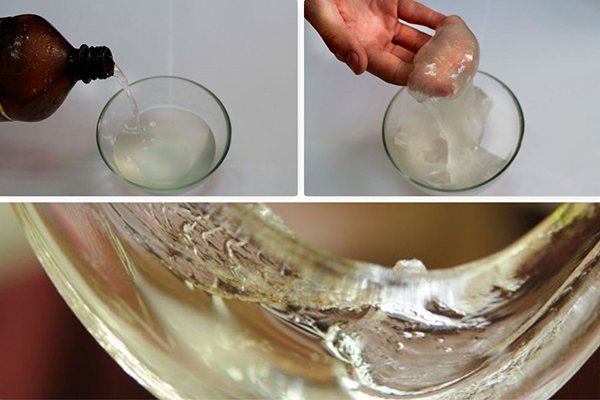 Загустевшее жидкое стекло