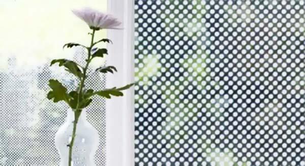 Перфорированная пленка на окне