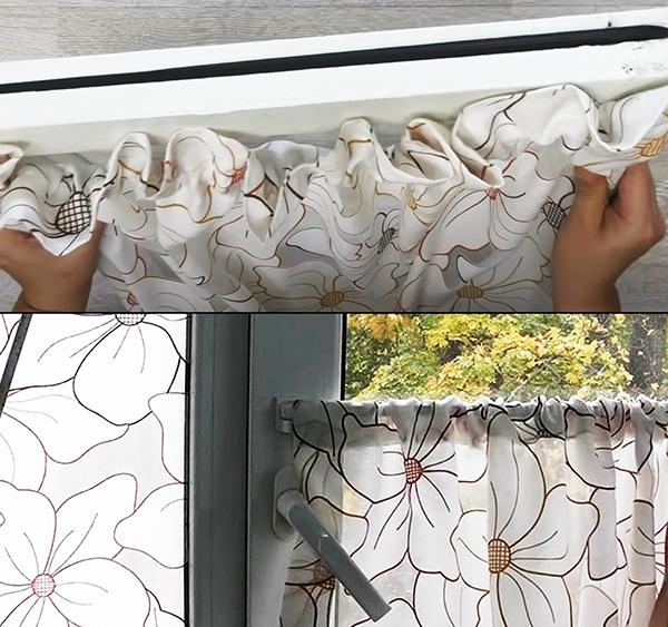 Самодельные шторки на створку окна