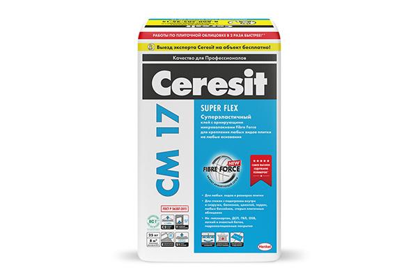 Плиточный клей Ceresit СМ-17 Super Flex