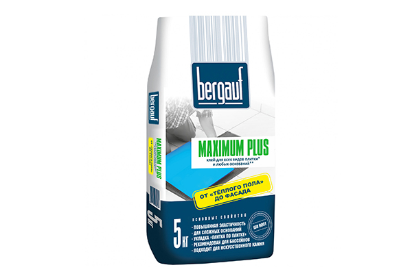 Плиточный клей Bergauf Maximum Plus