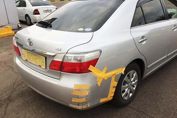 Треснул бампер после аварии